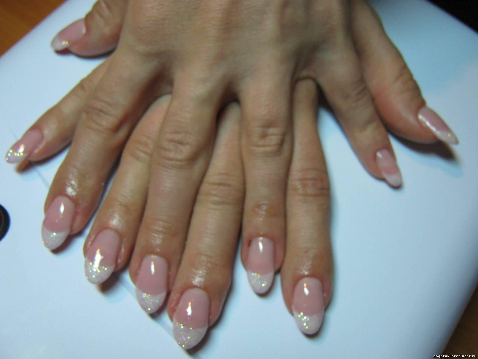Дизайн круглых ногтей фото френч с рисунком
